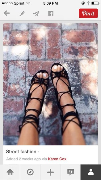 string shoes black heels
