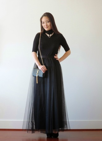 sensible stylista blogger tulle skirt black skirt black top