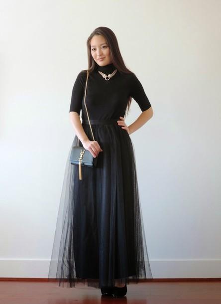 sensible stylista blogger tulle skirt black skirt black top