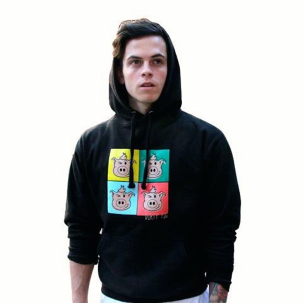 dirty pig mens hoodie sweater