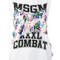 Msgm printed tank top, women's, size: medium, white, cotton