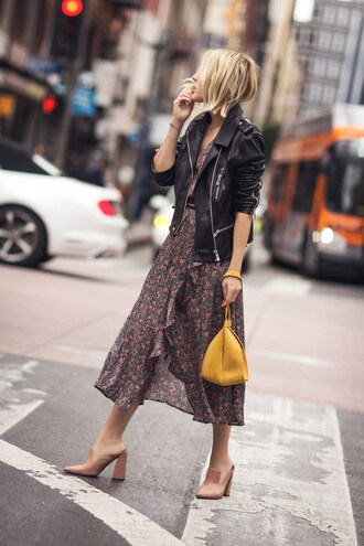 the fashion sight blogger jacket shoes dress bag