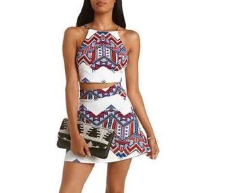 skirt tribal skirt twopiecesuit shirt