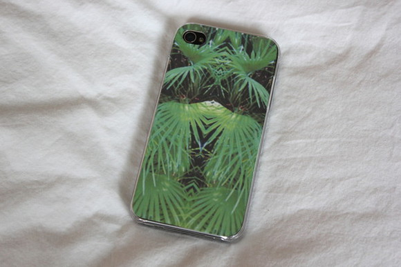 jewels tropical print green iphone phone case cover iphonecase phonecase ferns fern iphone 5 cover tropical iphone cover