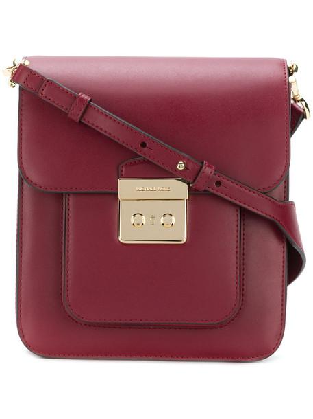 MICHAEL Michael Kors women bag messenger bag leather red