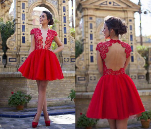 dress red dress homecoming dress party dress