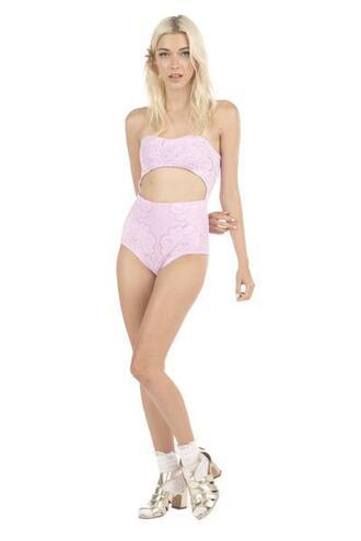 swimwear full coverage bikini bottom lolli swim monokini one piece pink bikiniluxe