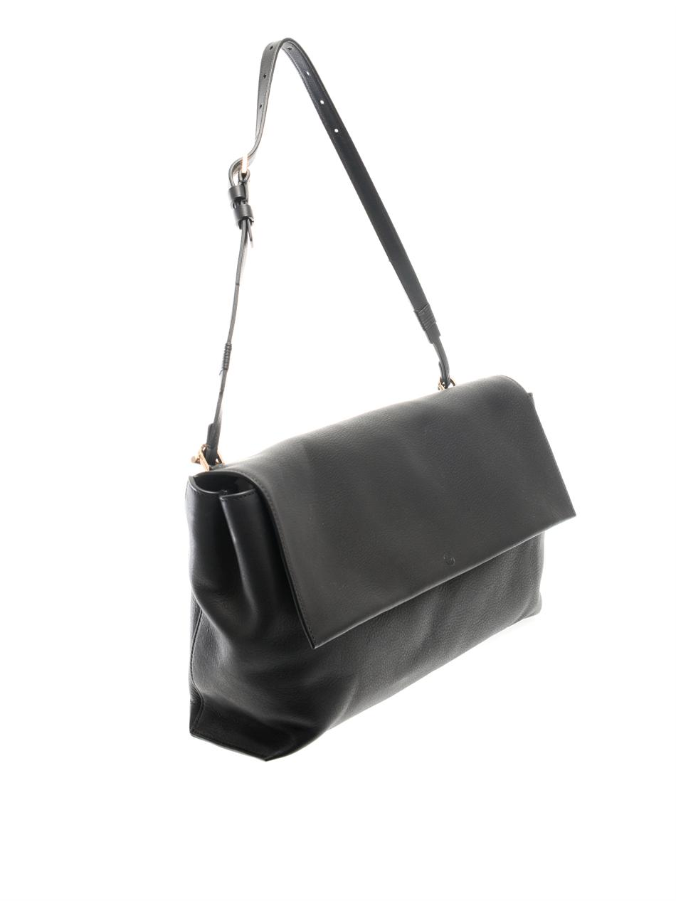 Flapped leather shoulder bag | The Row | MATCHESFASHION.COM