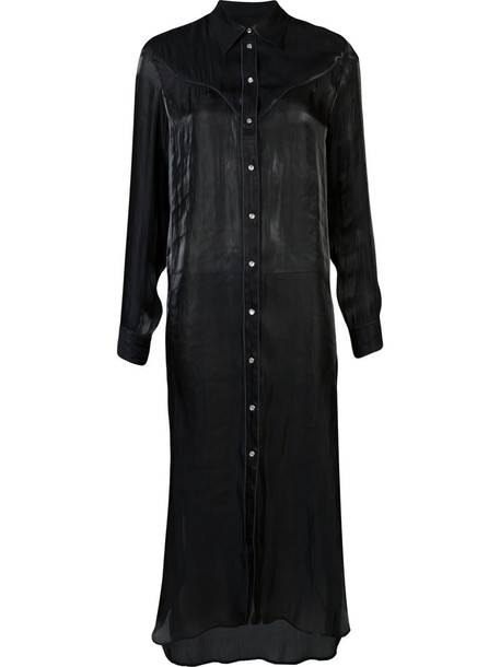 dress shirt dress maxi women black