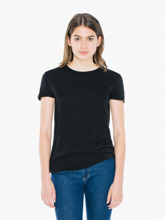 t-shirt black top cotton