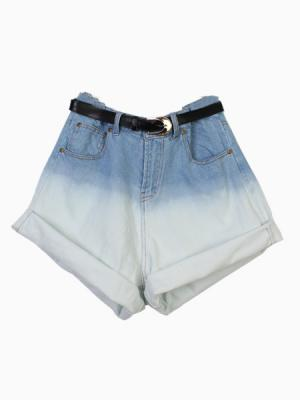 High Waist Dip Dye Shorts | Choies