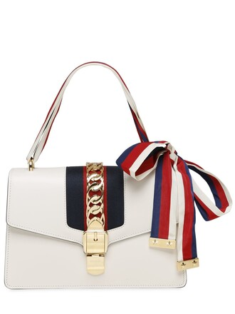 bag shoulder bag leather white