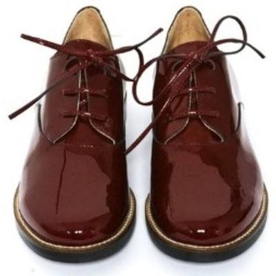 MM 6 Maison Martin Margiela Patent Lace-Ups - Bordeaux | Clothia