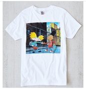 cute top,cute,hipster,t-shirt,hey arnold,white