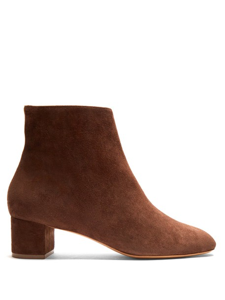 Mansur Gavriel boot suede dark brown shoes