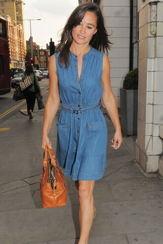 pippa middleton denim blue dress dress