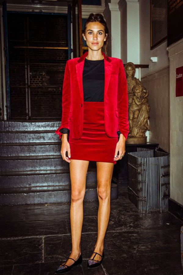 coat alexa chung skirt red velvet skirt jacket