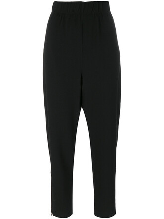 loose women spandex fit black pants