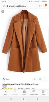 coat,lapel,trench coat,camel coat,rust,wool