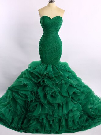 dress prom prom dress dressofgirl green organza bridesmaid mermaid mermaid prom dress green dress strapless strapless dress sweetheart dress maxi maxi dress long long dress pretty love fashion style trendy girly cute cute dress