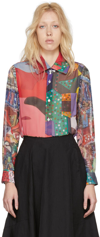 shirt graphic shirt multicolor top