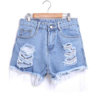 shorts light blue ripped