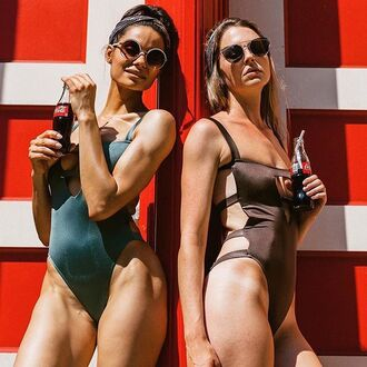 swimwear one piece swimsuit bikiniluxe metallic swimsuit