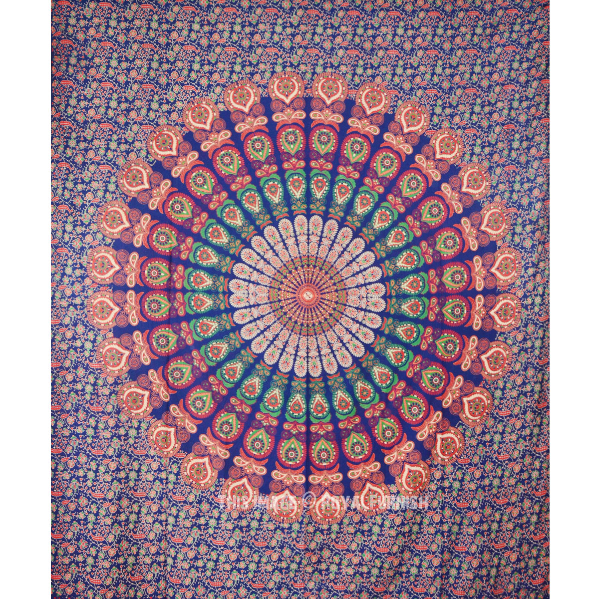 tapestry hippie peacock mandala throw and orange thumbnail medallion green blow wall bedding