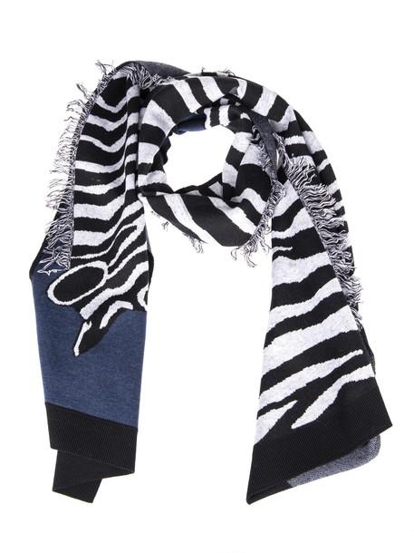 zebra scarf pattern multicolor