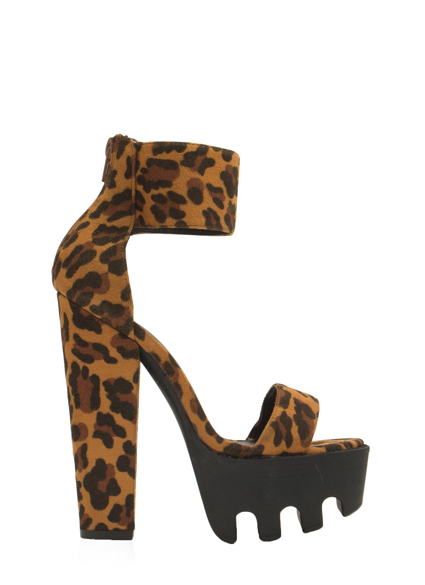 Chunky Leopard Heels | Tsaa Heel