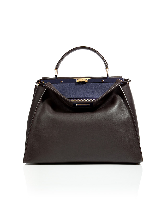 Fendi - Leather Peek-A-Boo Satchel with Shoulder Strap