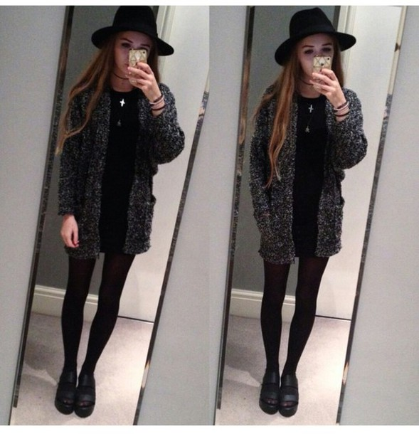 Cardigan Knit Cute Cardigan Grunge Grunge Top Grunge Wishlist Alternative Tumblr Outfit