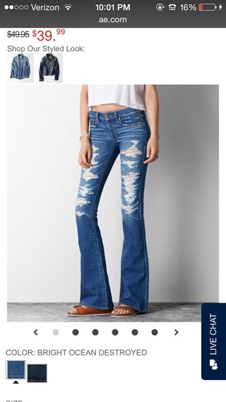 jeans fashion flare pants flare jeans ripped jeans ripped medium wash