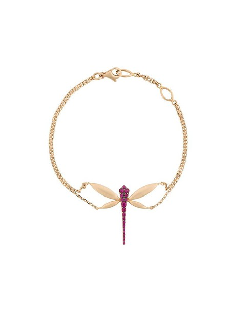 Anapsara rose gold rose women embellished dragonfly gold grey metallic jewels