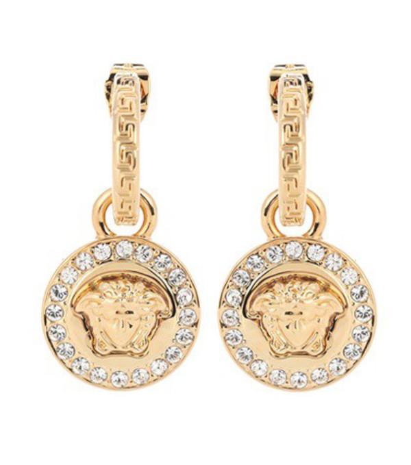 Versace Greca and Medusa earrings in gold