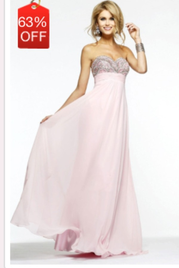 dress prom pink strapless