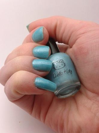 nail polish hello kitty nail blue nail polish iris? carribean light blue light sky sanrio