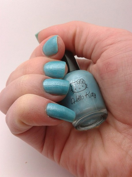 nail polish hello kitty nails blue nail polish iris? carribean light blue light sky sanrio