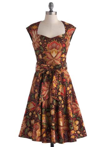 dress print dress high noon harvest dress