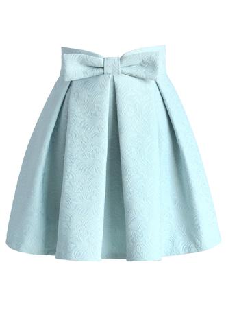 skirt chicwish mini skirt jacquard skirt pastel skirt pastel blue chicwish skirt