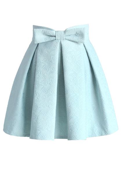 Skirt Chicwish Mini Skirt Jacquard Skirt Pastel Skirt