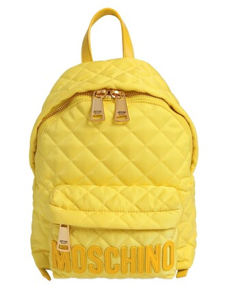 quilted backpack yellow bag