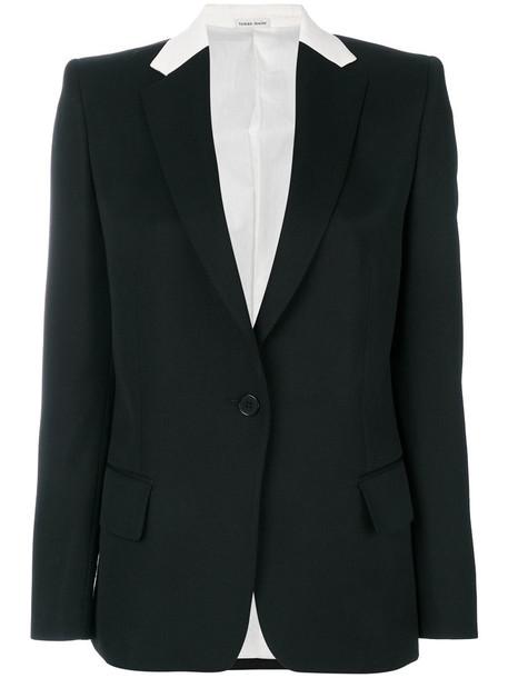 Tomas Maier blazer women black wool jacket
