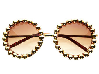 GOLD PEARL RIMMED SUNGLASSES | ghtest-skateboard
