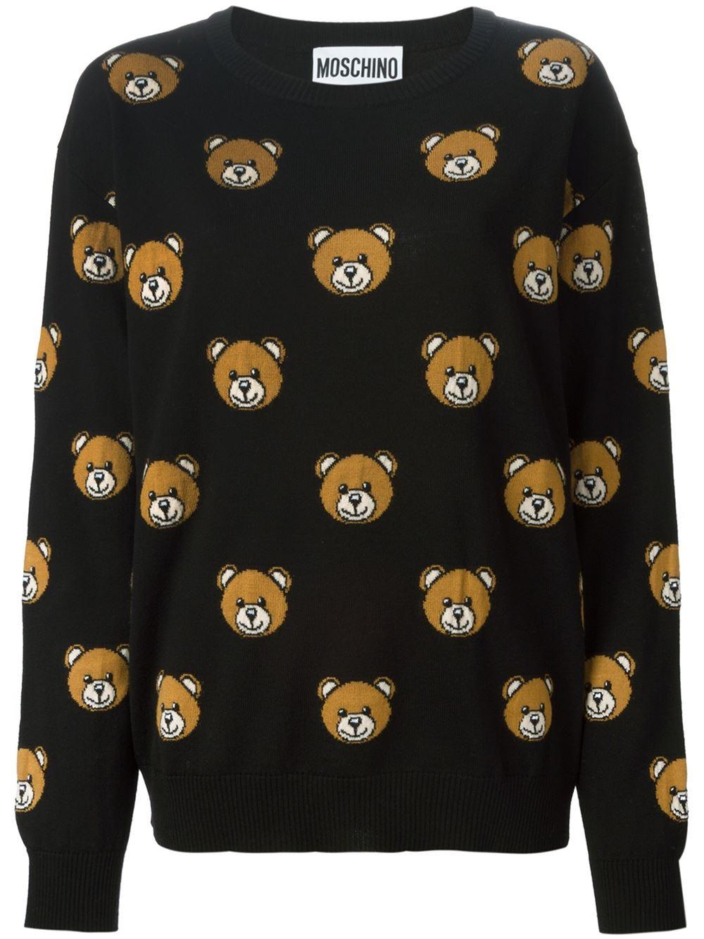 5475af1a2f8 Moschino Intarsia Teddy Bear Sweater - Boutique Tricot - Farfetch.com