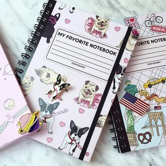 home accessory yeah bunny notebook cute dog new york city school accessories