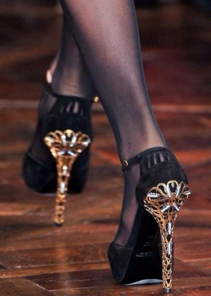 pants leggings print shoes black heels heels