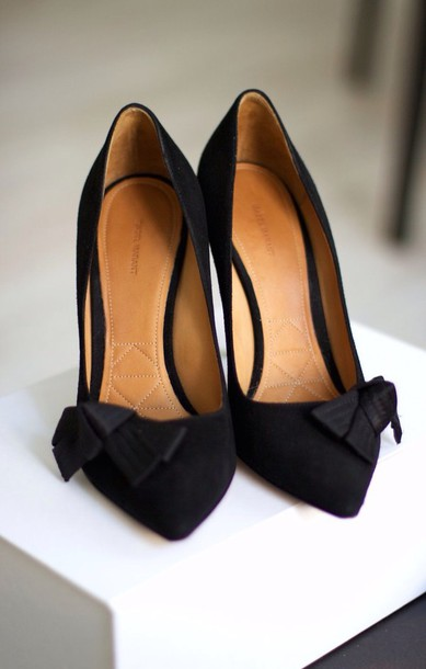 shoes black black heels style pumps bow high heels bows classy elegant shoes perfecto