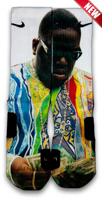 Biggie Nike Custom Elite Socks | CustomizeEliteSocks.com™                           | CustomizeEliteSocks
