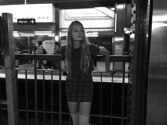 skirt school girl mini skirt plaid skirt beautiful plaid black and white